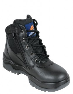 Mongrel Black ZipSider Boot - Non Safety