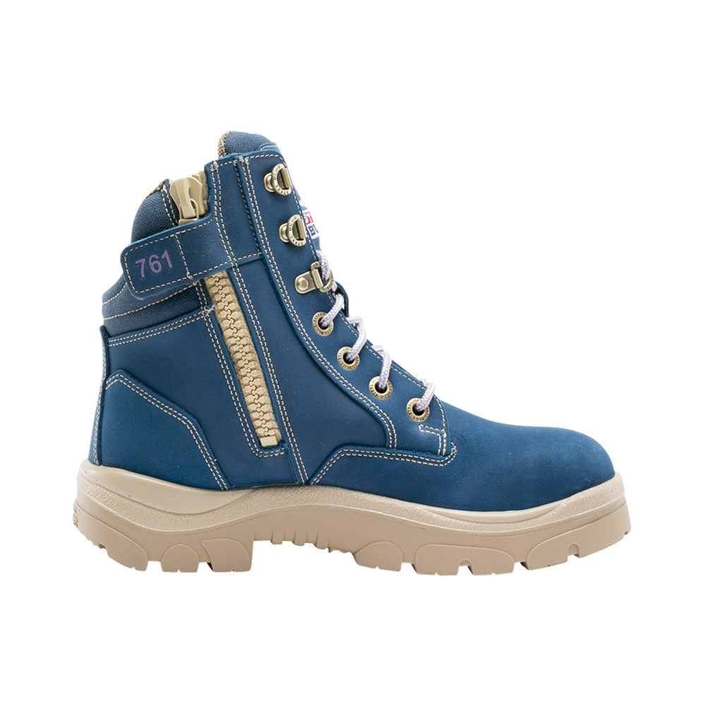 11ac7f55a86 STEEL BLUE Southern Cross Ladies Zip Lace Up Safety Boots